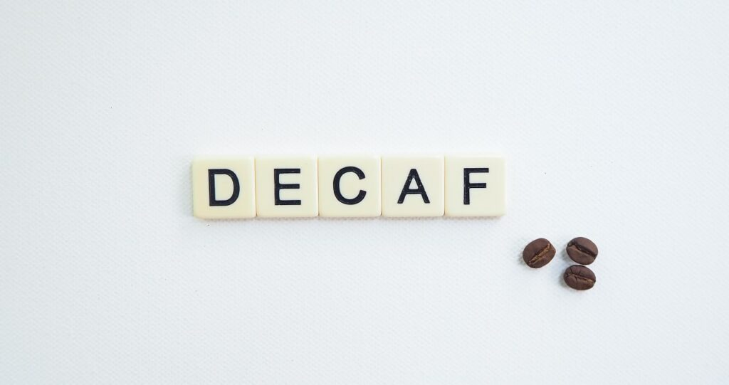 caffeine in decaffeinated coffee