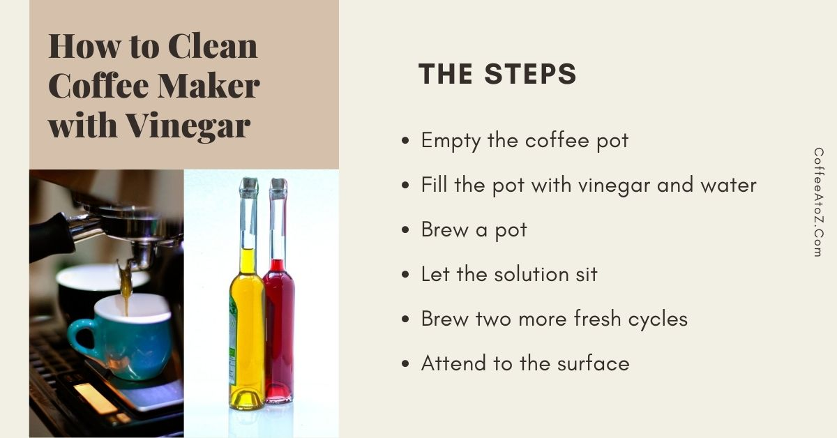 how to clean coffee maker with vinegar