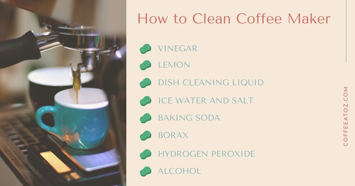 how to clean coffee maker without vinegar and with vinegar