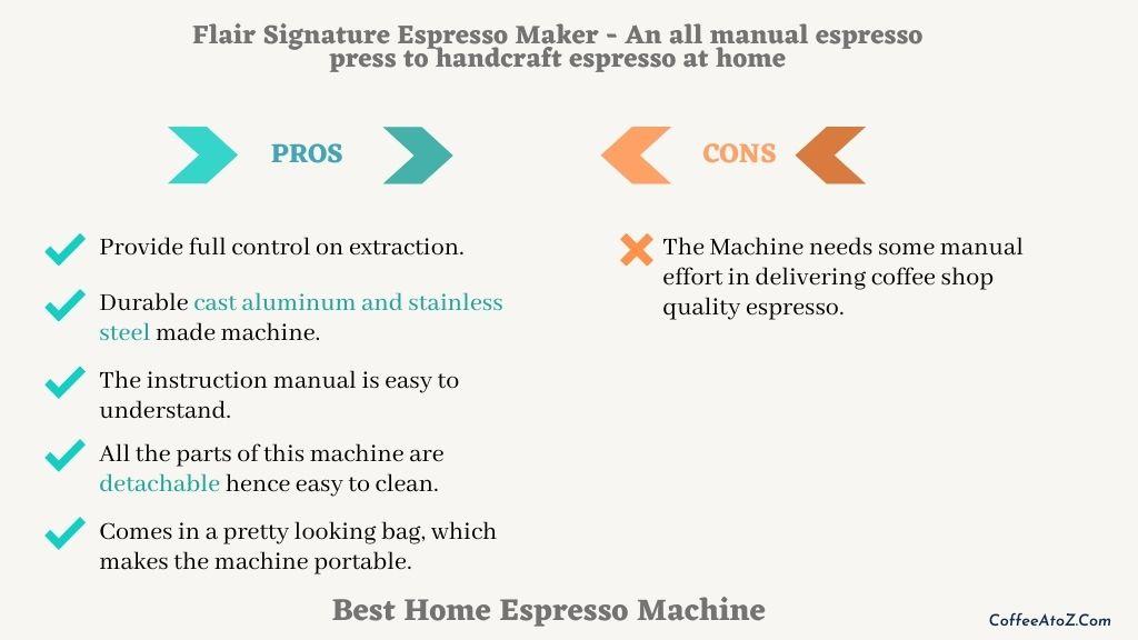 best manual home espresso machine