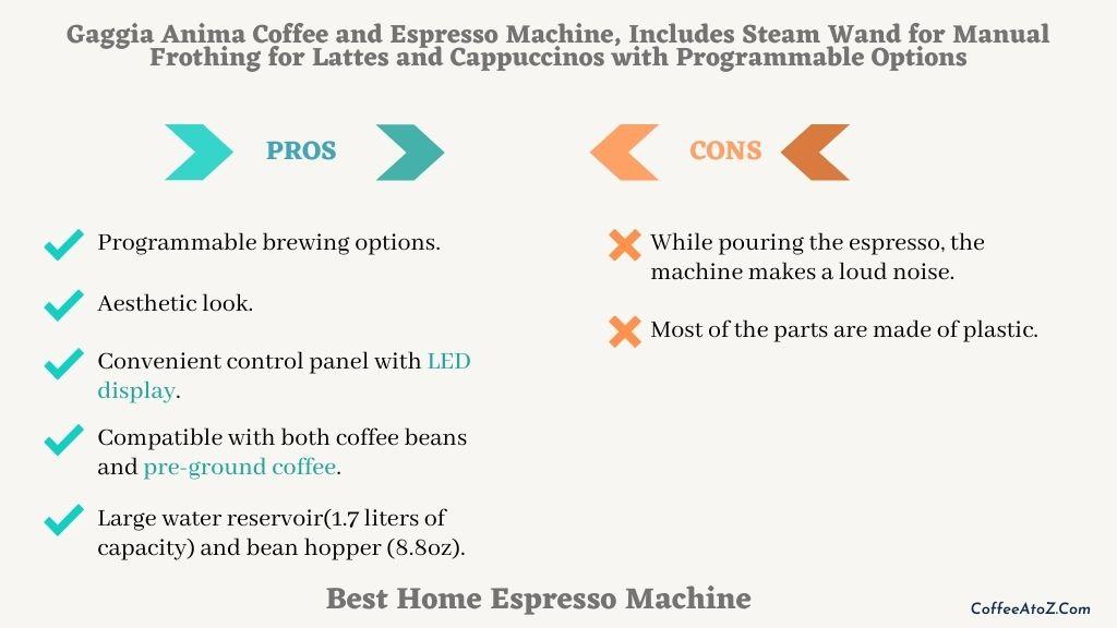 best home espresso machine for latte art