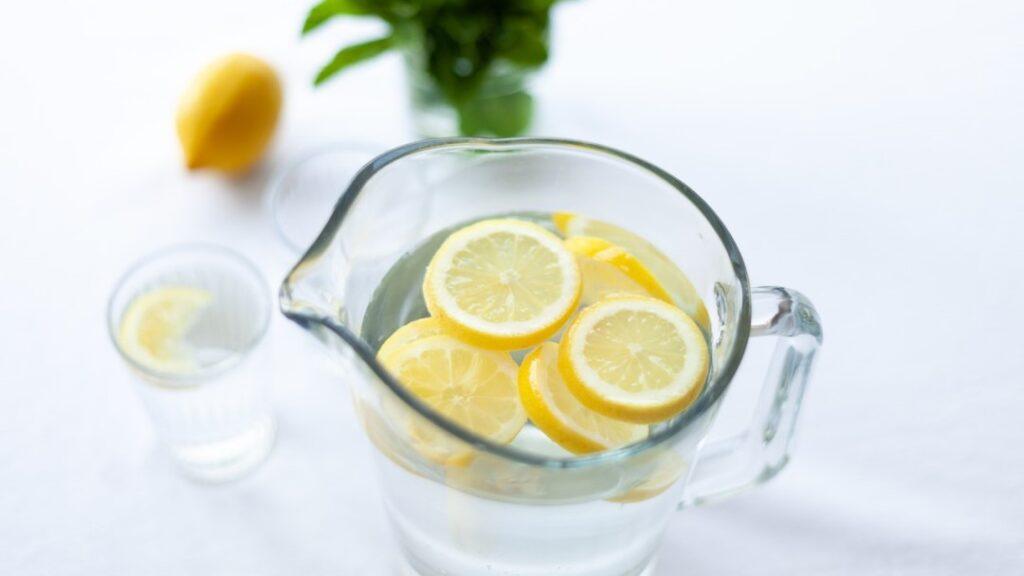 clean coffee maker with lemon juice