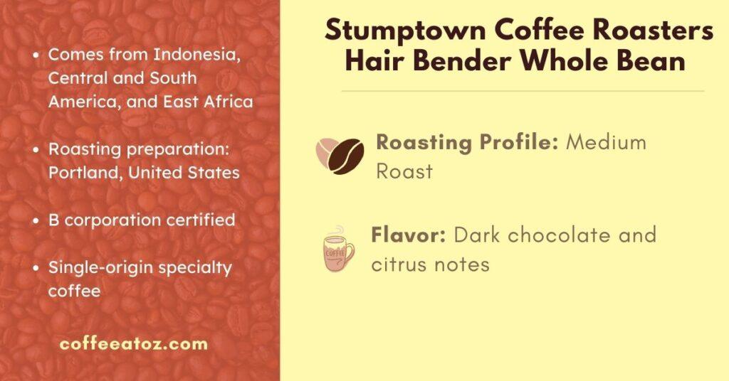 Stumptown Coffee Roasters Hair Bender light to dark roasts Coffee