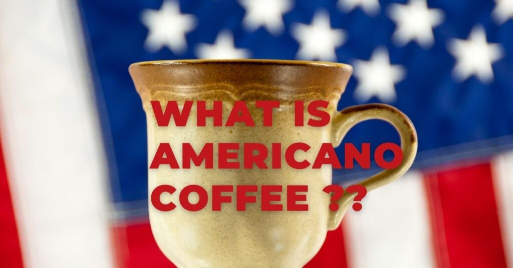 What is an Americano Coffee Drink