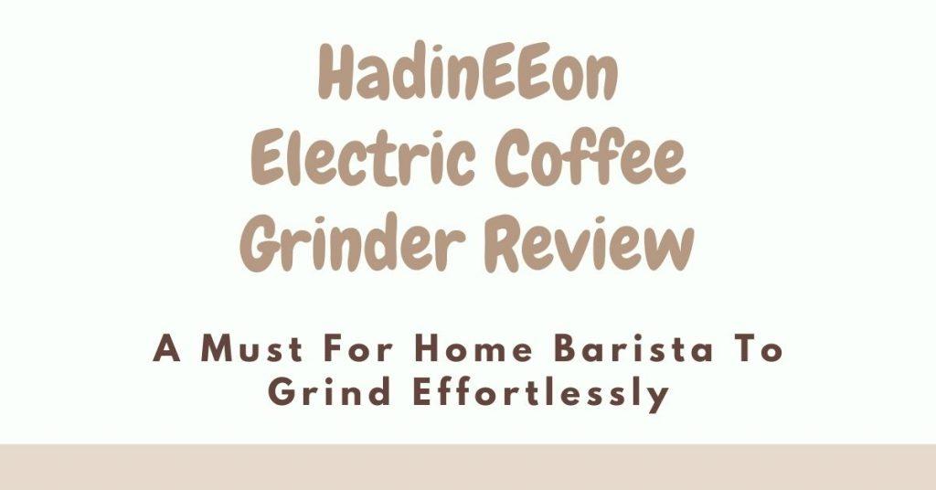 Hadineeon Electric Coffee Grinder Review