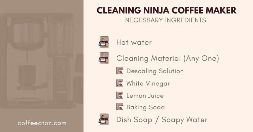 cleaning ninja coffee maker
