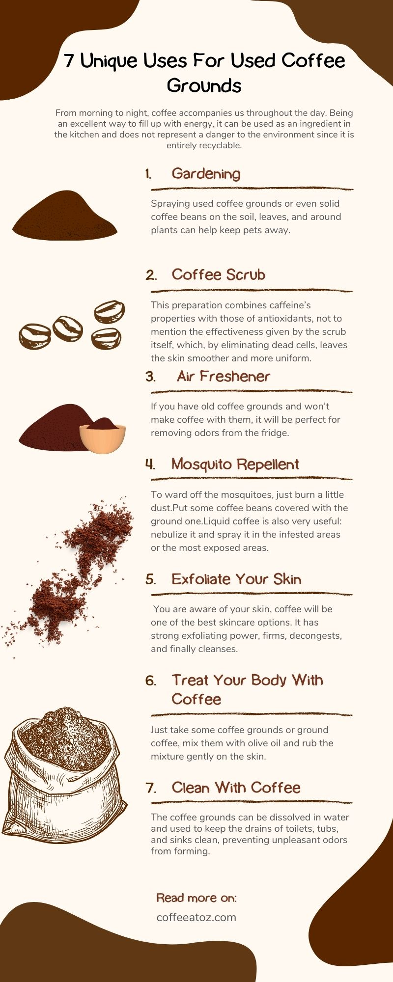 Best Uses For Used Coffee Grounds